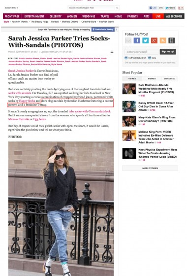 Swedish Hasbeens - HuffPo Style SJP