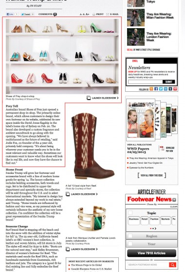 Shoes of Prey - Footwear News