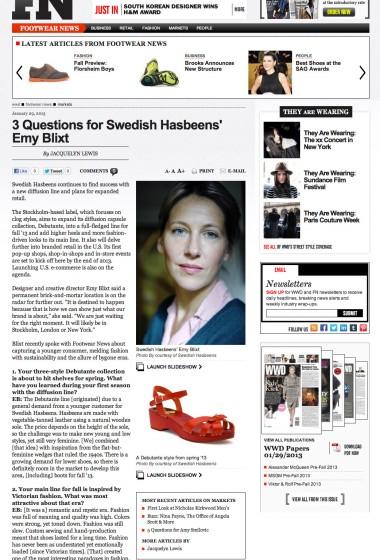 Swedish Hasbeens - Footwear News